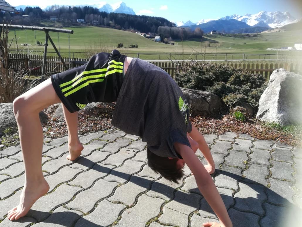 Marc Karger trainiert daheim